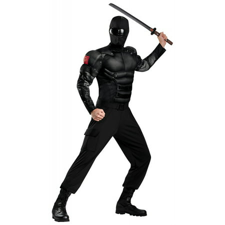 Gi Joe Costume (GI Joe Snake Eyes Muscle Adult Costume -)