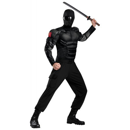GI Joe Snake Eyes Muscle Adult Costume - (50's To 80's Costumes)