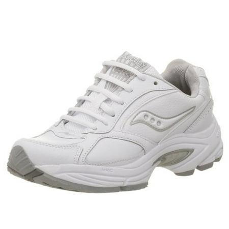 e3fd6a4496 Saucony Women's Grid Omni Walker Walking Shoe,White/Silver,9 M (5260-1)