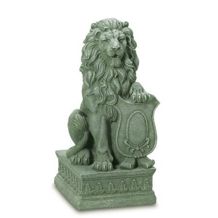 lion statue faux stone lions statues guardian lion garden statue poly resin - Resin Garden Statues