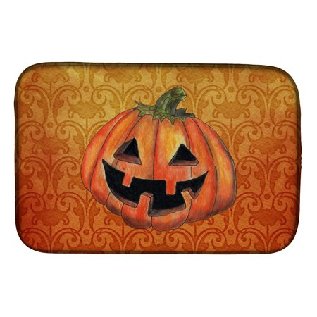 October Pumpkin Halloween Dish Drying Mat](Halloween Math)