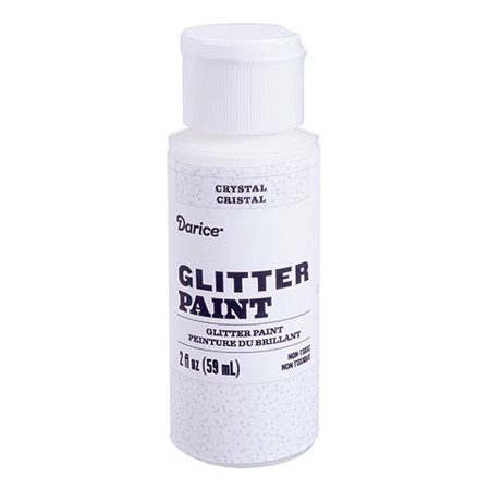 Add some excitement to your projects with this crystal glitter acrylic paint. The sparkly, neutral hue pairs beautifully with both warm and cool colors. - Halloween Paint Projects
