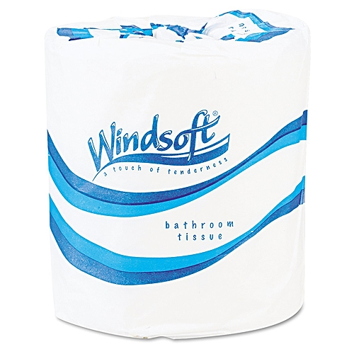 Windsoft Single Roll Bath Tissue, 500 Sheets/Roll, 96 Rolls/Carton 2200