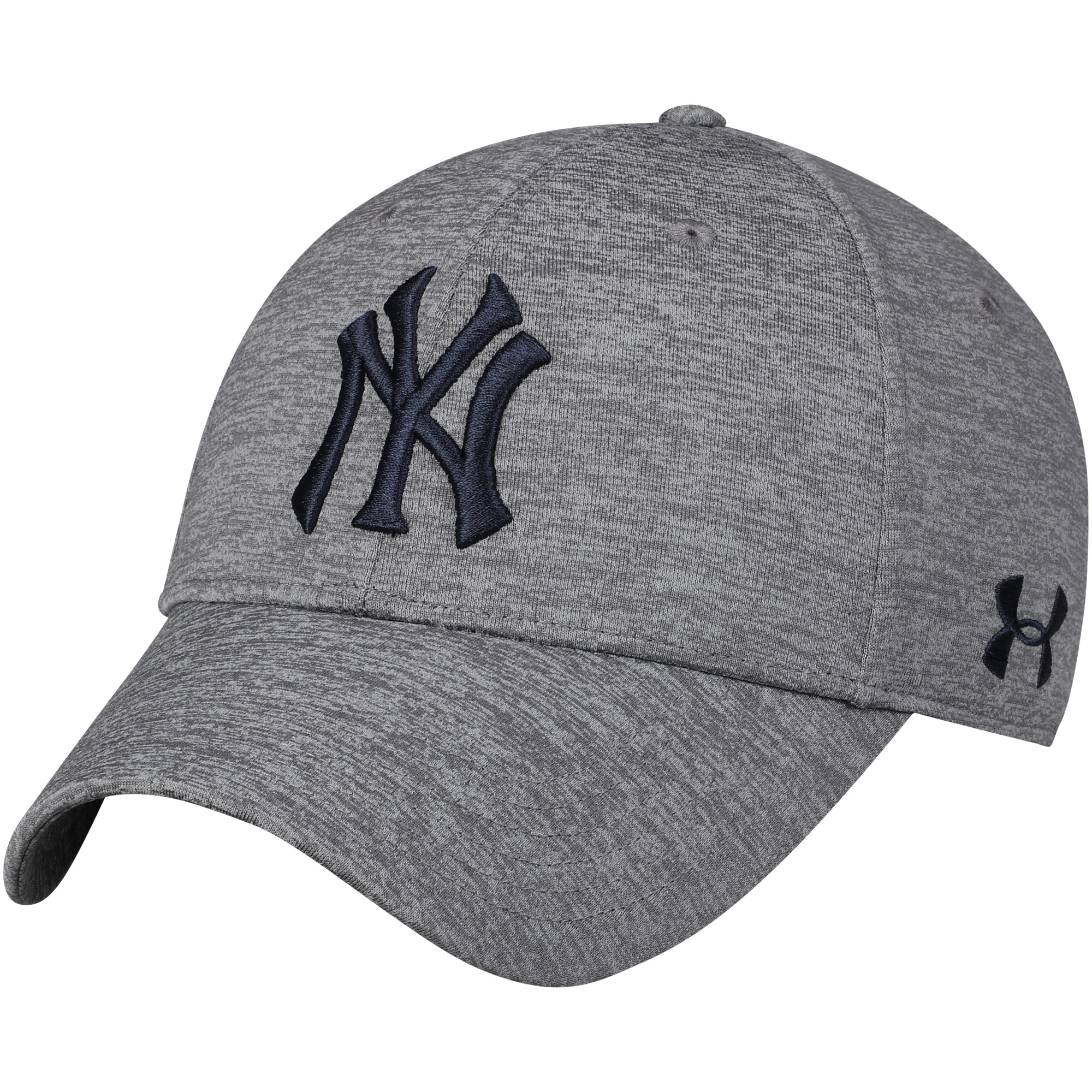 New York Yankees Under Armour Twist Closer Performance Snapback Adjustable Hat - Heathered Gray - OSFA
