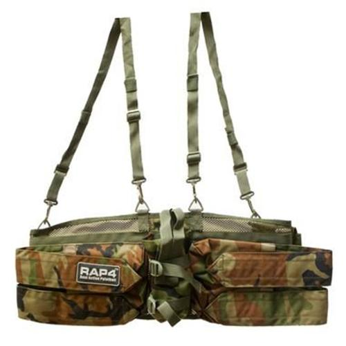 Rap4 Paintball Tactical Harness 4+1 w/ Straps - Woodland Camo