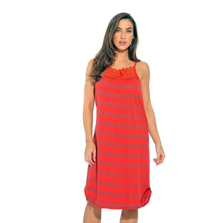 Love Scale (Just Love Cotton Stripe Nightgown)