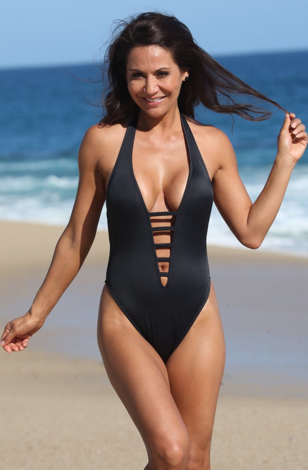 d54780fbb68c0 UjENA Santorini Black Matte One Piece Swimsuit