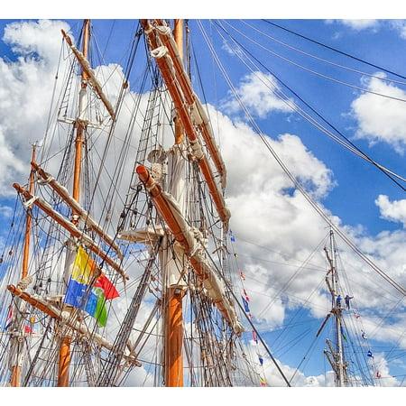 Canvas Print Delfzijl Sailing Boat Delfsail Sail Mast Rope Stretched Canvas 10 x (Ropes Masts And Sails Of A Boat)