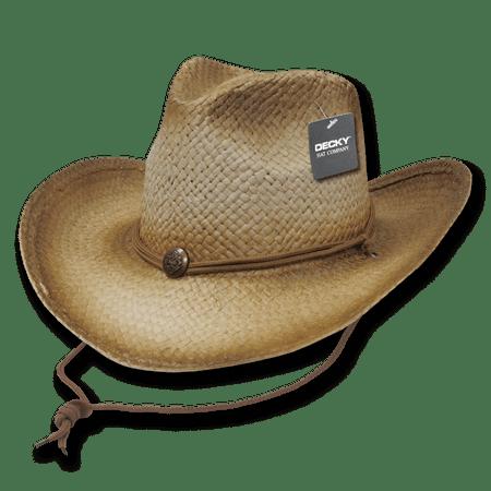 DECKY Original Paper Woven Light Weight Cowboy Hats Hat Men Mens  Glazed