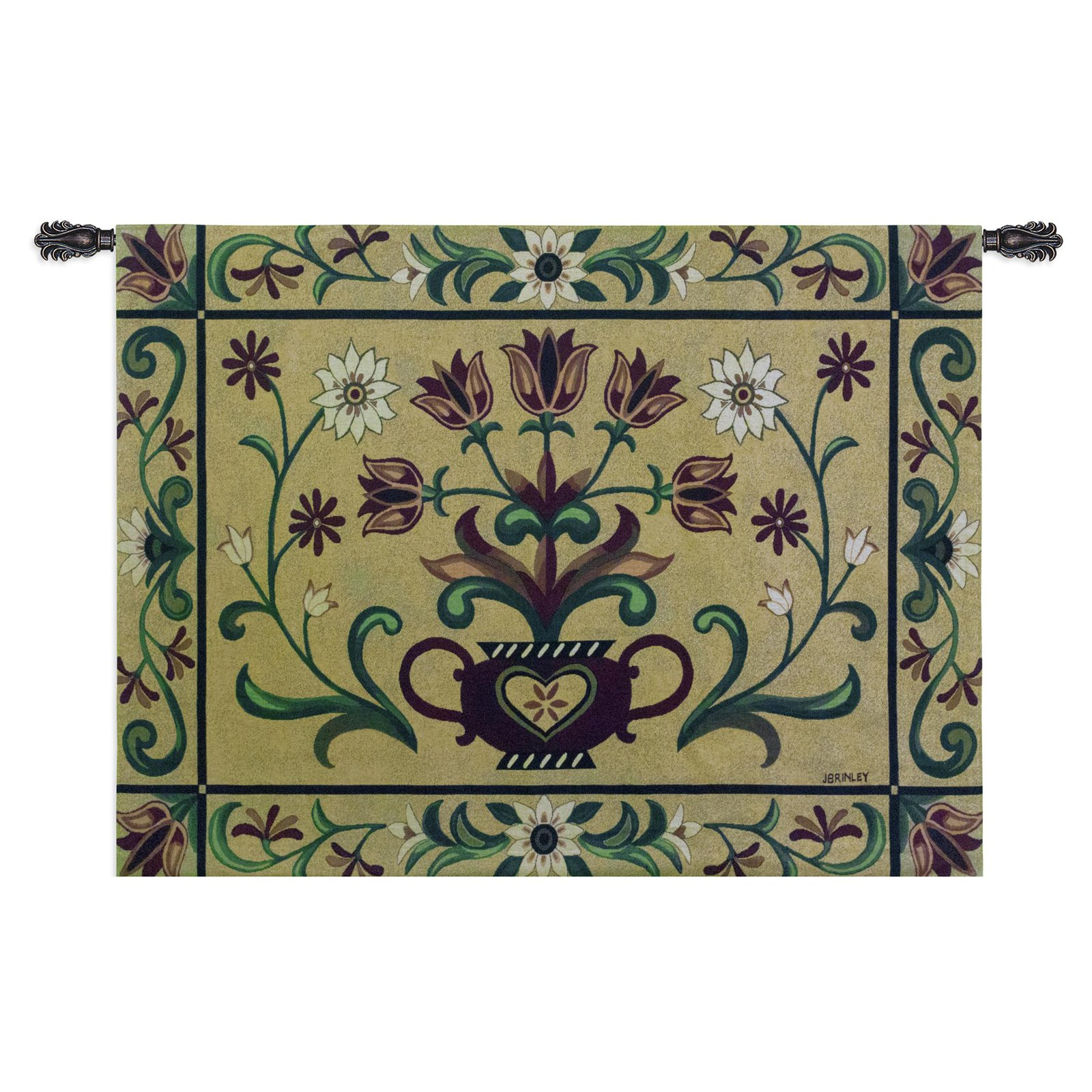 Click here to buy Fine Art Tapestries Heritage Floral Wall Tapestry by Supplier Generic.