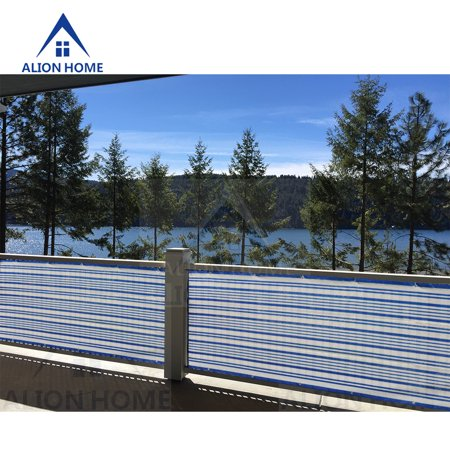 Alion Home Blue/White Mediterranean Style Privacy Screen  For  Pool, Porch, Patio, Deck, Balcony, Fence 3' x 10' ()