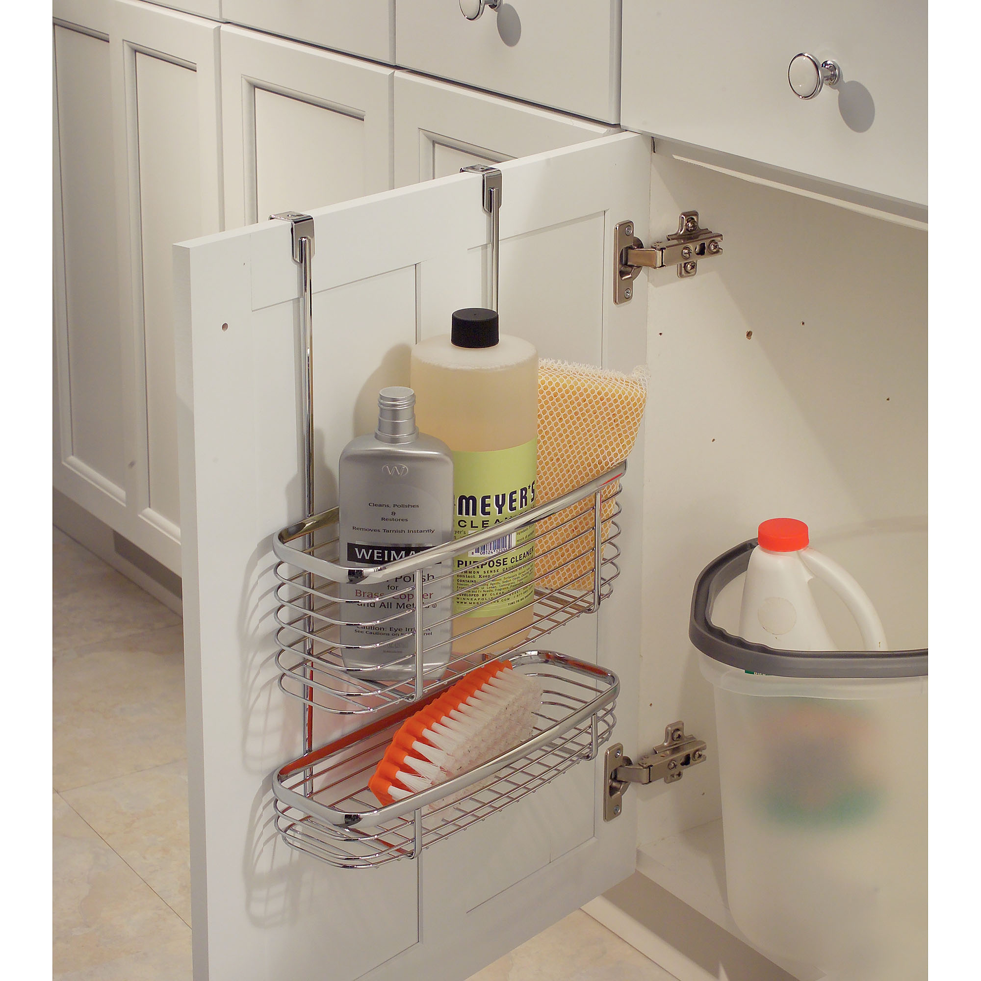 Bathroom cabinet door organizer - Bathroom Cabinet Door Organizer 2