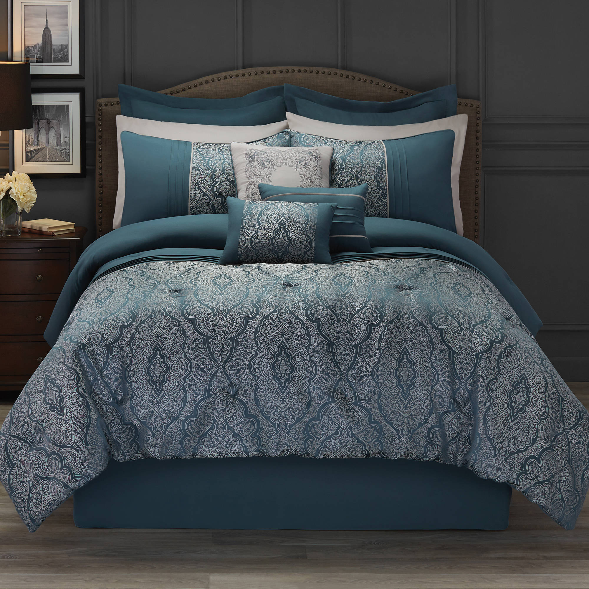 Hotel Style 11 Piece Bedding Comforter Set Collection
