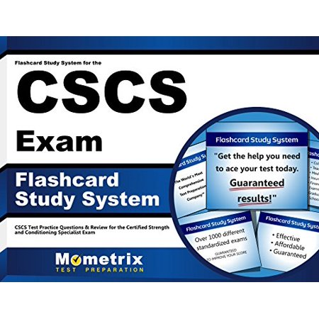 Flashcard Study System For The Cscs Exam  Cscs Test Practice Questions   Review For The Certified Strength And Conditioning Specialist Exam  Cards  By Cscs Exam Secrets Test Prep Team