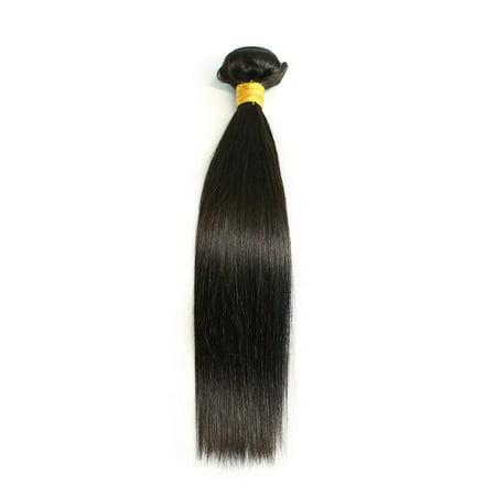 Straight Hair Weave Bundles Deals Double Drawn Raw Unprocessed Virgin Wear - image 1 of 9