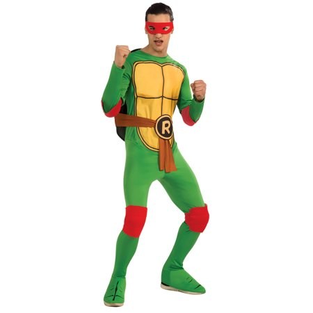 Teenage Mutant Ninja Turtles Raphael Adult Halloween Costume](Adult Ninja Turtle Costume)