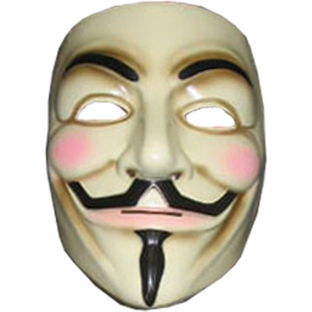 Morris Costumes Adult Unisex Lightweight Plastic V For Vendetta Mask, Style RU4418 - V For Vendetta Cape