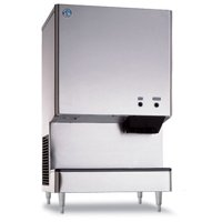 "Hoshizaki DCM-500BAH 618 lb 26"" Wide Air-Cooled Cubelet-Nugget Style Ice Machine and Water Dispenser w  Bin by Ice Machines"