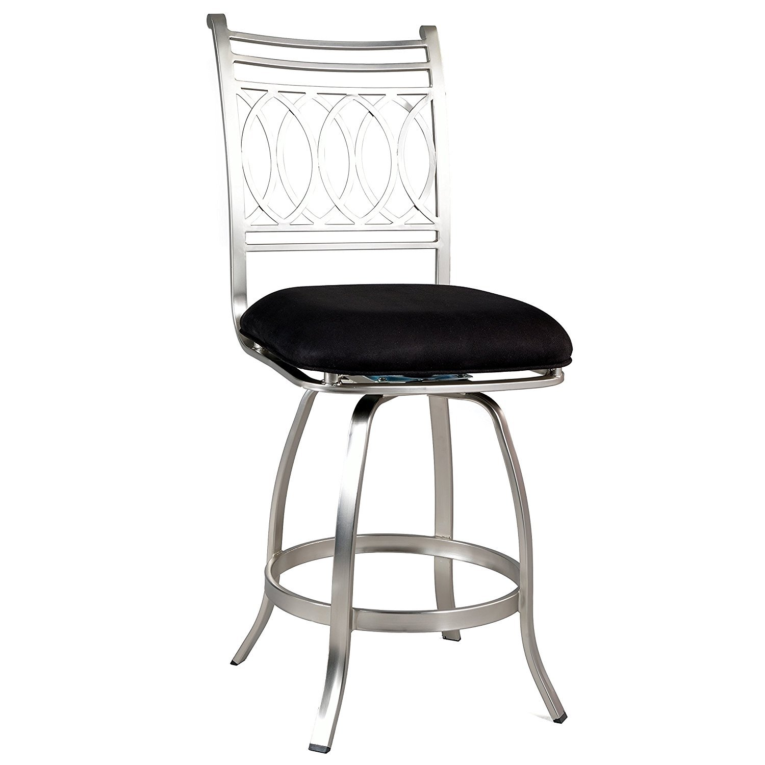 Somette Black Memory Return Swivel 26 Inch Counter Stool Walmartcom