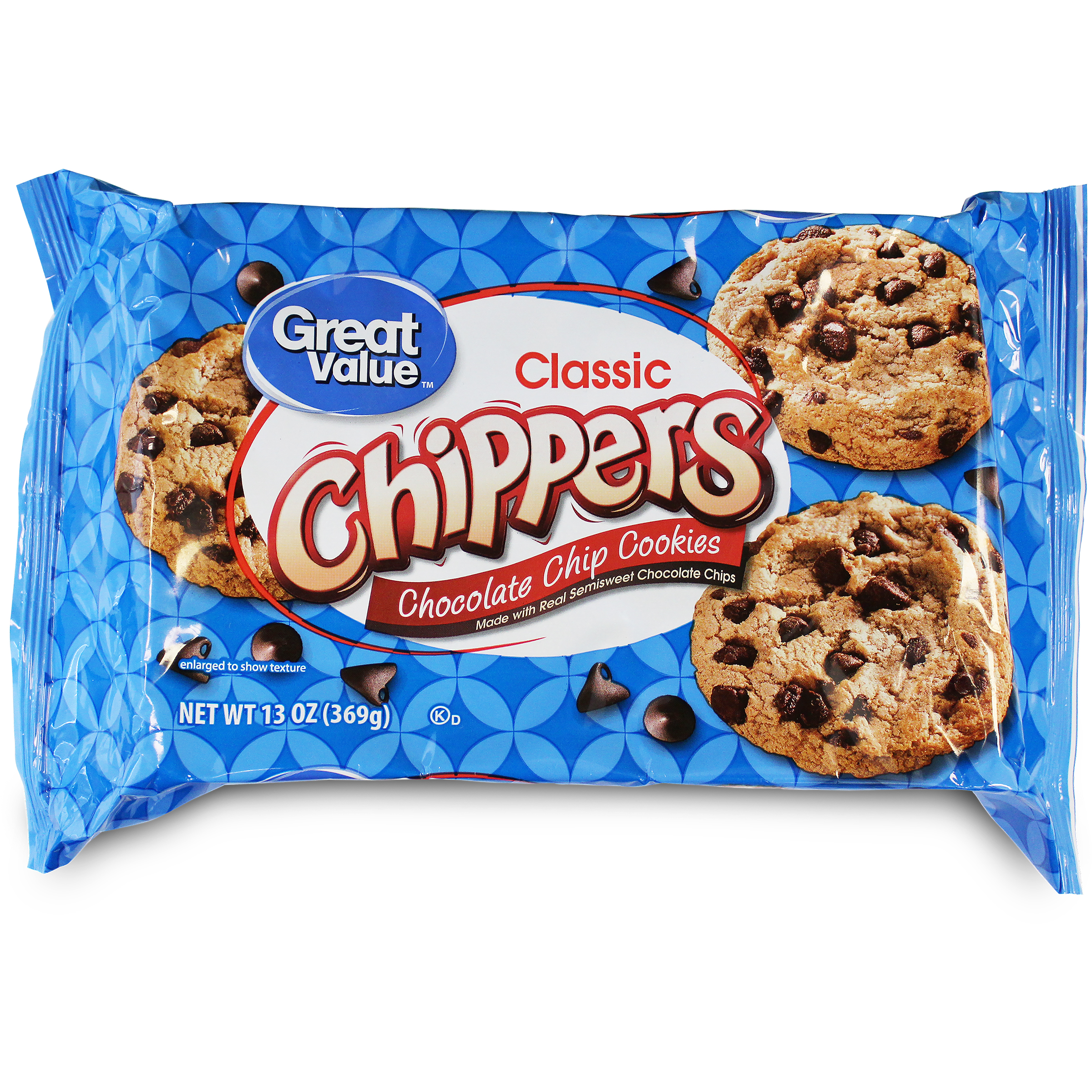 Great Value Chocolate Chip Cookies, 13 Oz.
