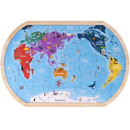 Whole Map Of The World.Professor Poplar S Whole Wide World Puzzle Map