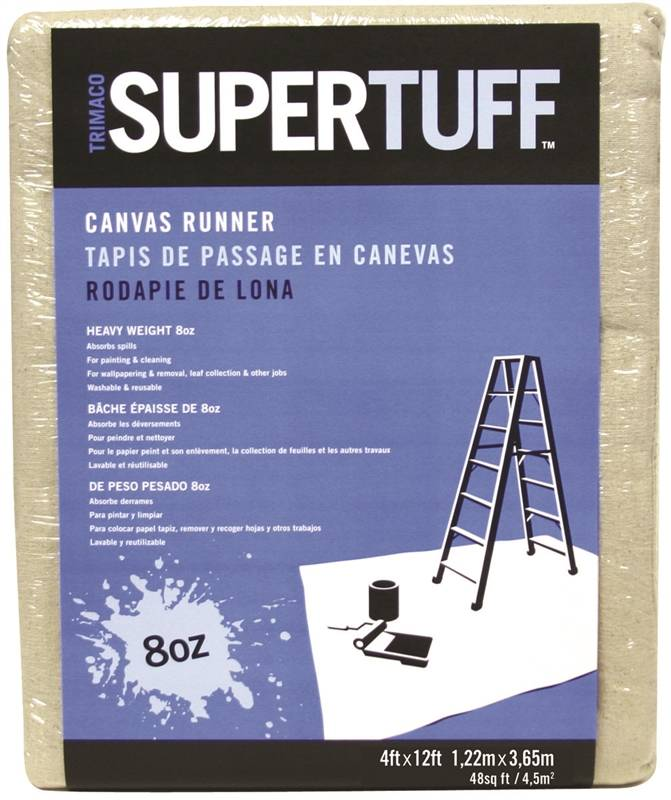 super tuff drop cloth 4 ft w x 12 ft l canvas