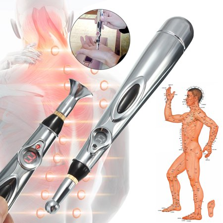 Battery Powered Massage (Portable Electronic Acupuncture Meridian Pen Energy Health Kit Heal Massage Pain Massager  Father's Day Gifts Battery Powered (not included) )