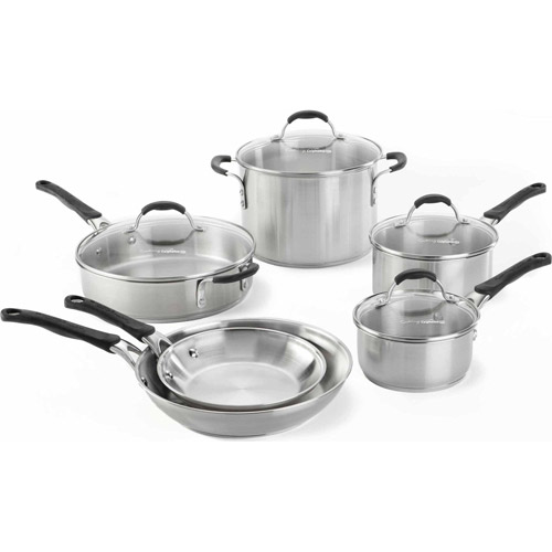 cooking with calphalon stainless steel 10piece cookware set