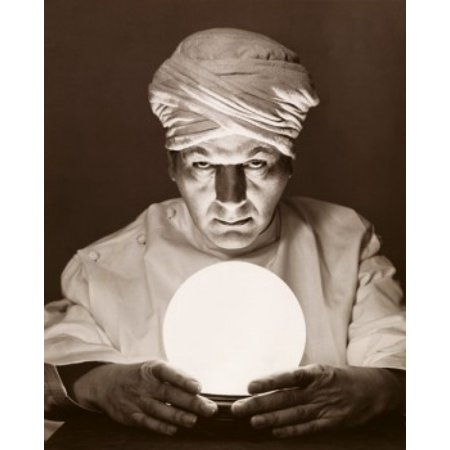 Halloween Fortune Teller Crystal Ball (Close-up of a fortune teller looking into a crystal ball Stretched Canvas -  (18 x)