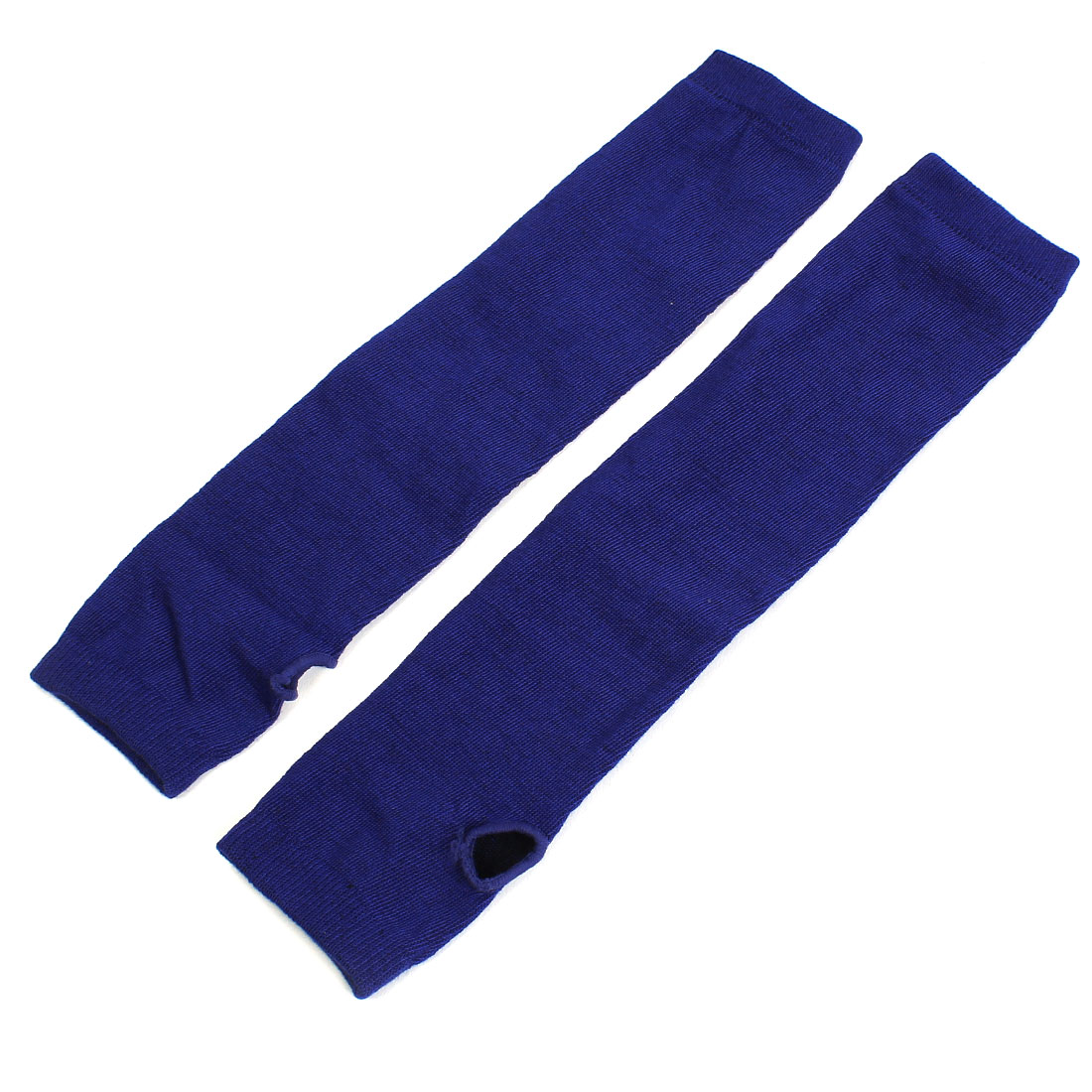 Lady Winter Elbow Length Stretchy Fingerless Warmers Gloves Royal Blue Pair