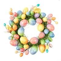 Way To Celebrate Glittery Easter Egg Wreath