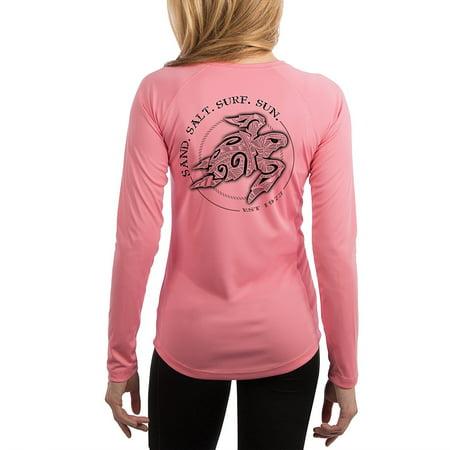 f459f835ce25 Surf.Sun. - Polynesian Sea Turtle Women's UPF 50+ UV/Sun Protection Long  Sleeve T-Shirt - Walmart.com