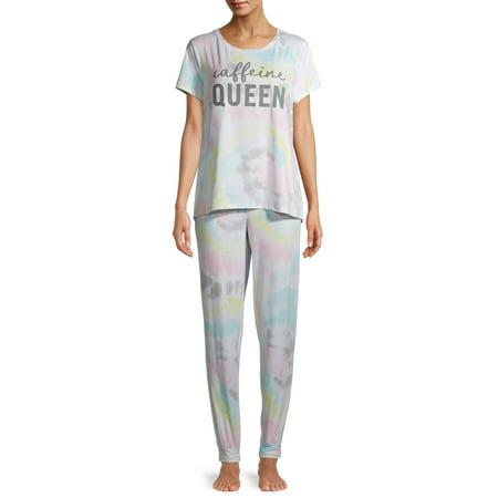 Secret Treasures Women's and Women's Plus T-Shirt and Joggers, 2-Piece Pajama Set