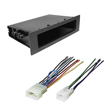 toyota 1996 - 2003 sienna car cd stereo receiver dash install mounting kit + wire harness (98 Toyota Sienna Stereo)