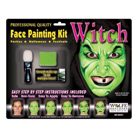 Makeup For A Witch (Witch Makeup Kit - Wolfe)