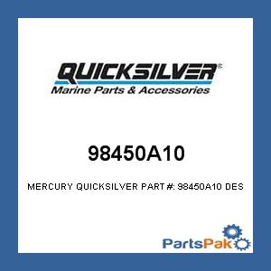 Mercury Marine Boat Parts (Mercury - Mercruiser 98450A10 Mercury Mariner Quicksilver 98450A10 TRIGGER, Boat Marine)