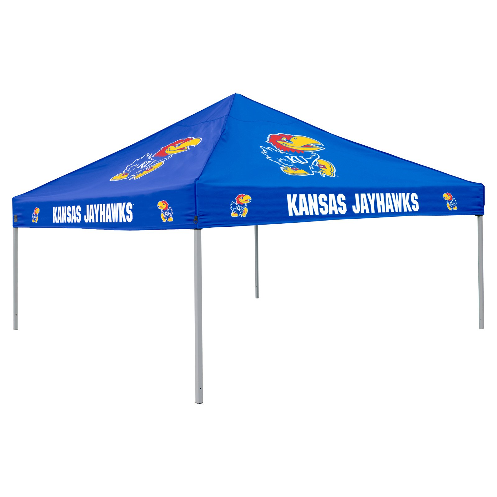 Logo Chair NCAA Kansas 9' x 9' Solid Color Tent, Sleeps 4