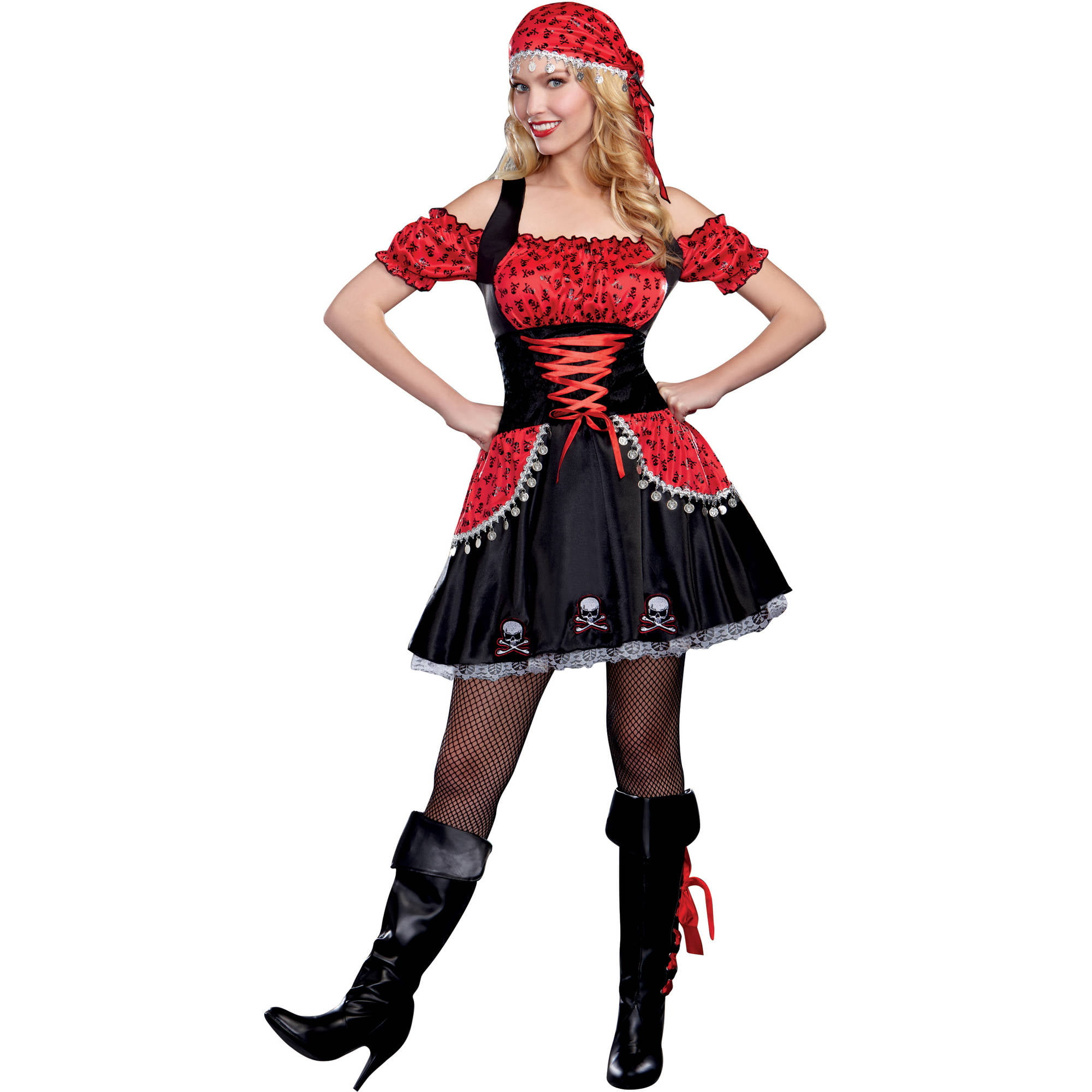 pirate beauty womens adult halloween costume walmartcom - Pirate Halloween Costumes Women