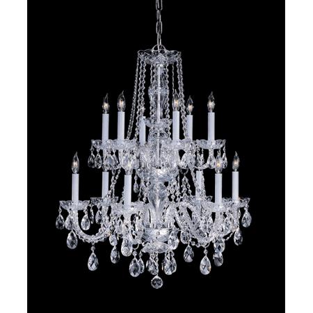 Chandeliers 6 Light With Polished Brass Clear Swarovski Strass Crystal Glass 26 inch 240 Watts - World of Lighting 2 6 Inch Solid Brass