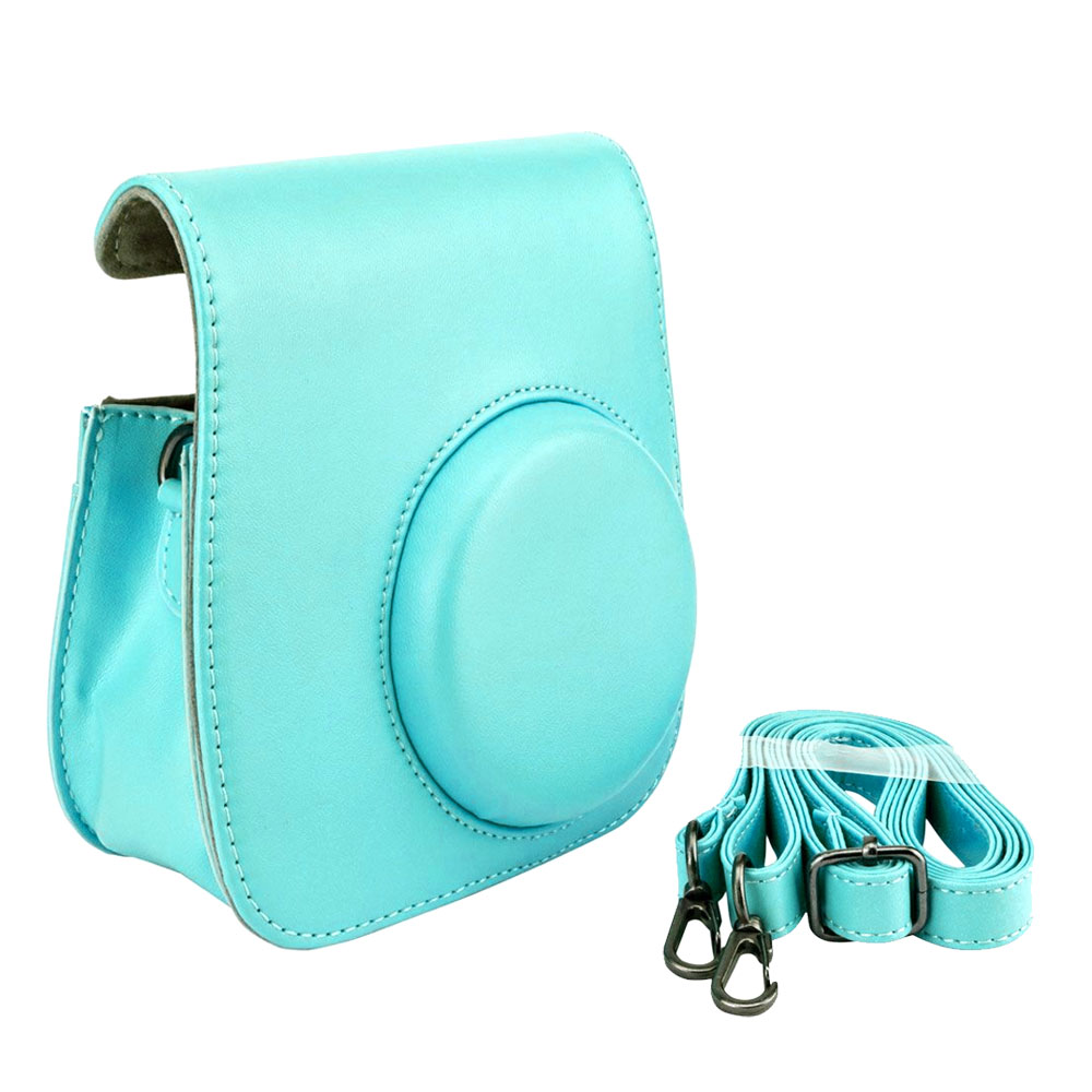 Ice Blue Groovy Case For Fuji Instax Mini Camera + Strap New!! Top Value!!