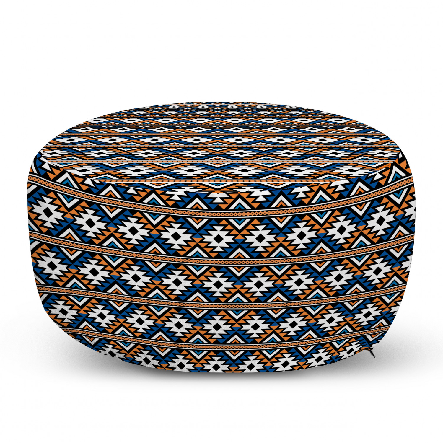 Autumn Leaves Pattern in Earth Tones Cocoa Champagne Ambesonne Leaves Ottoman Pouf Decorative Soft Foot Rest with Removable Cover Living Room and Bedroom