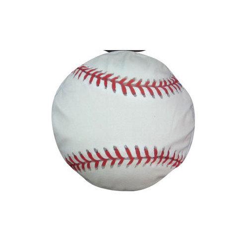 Dogzzzz Round Baseball Dog Pillow