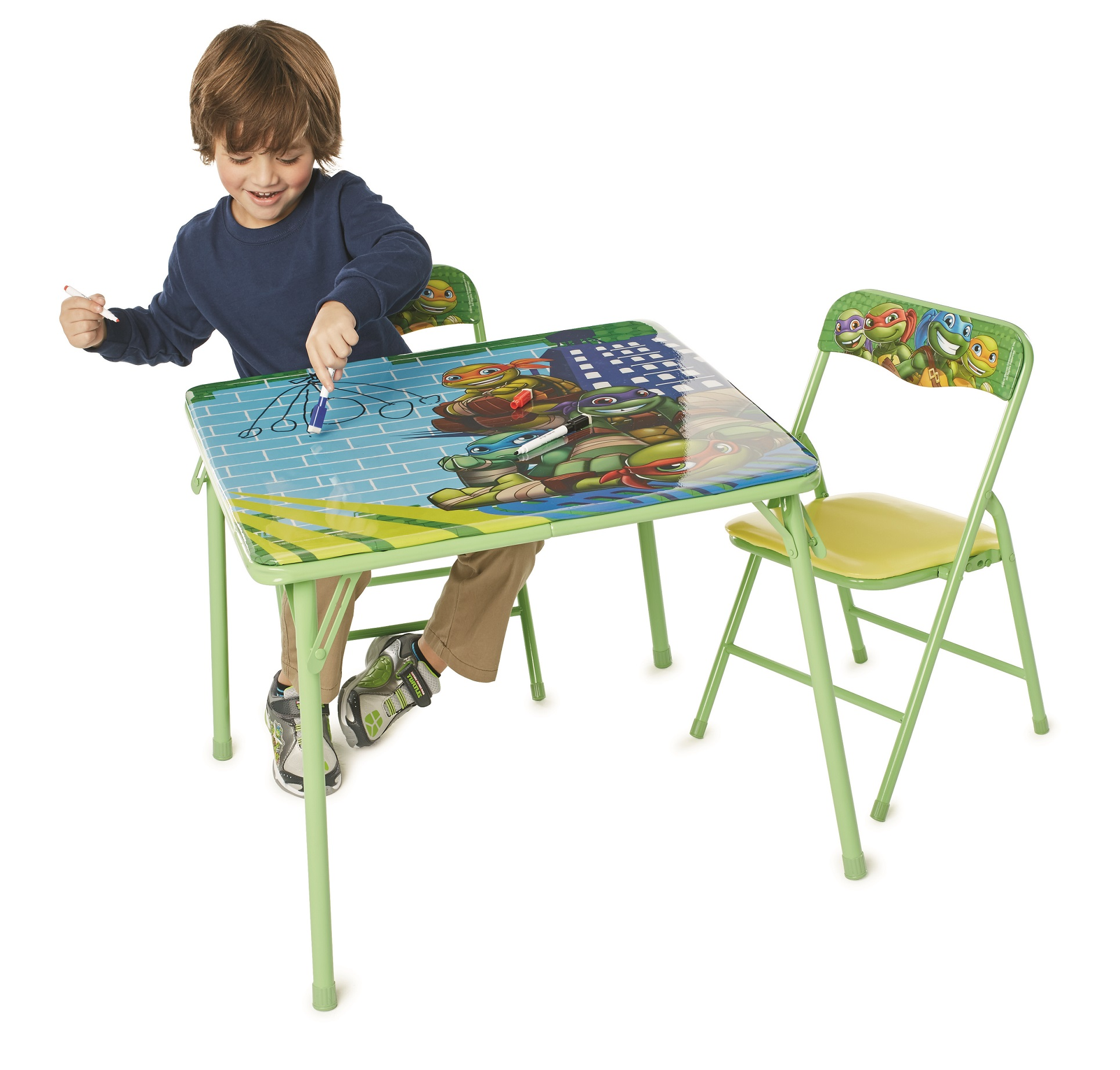 TMNT Ultimate Heroes Erasable Activity Table W/ 3 Dry-Erase Markers