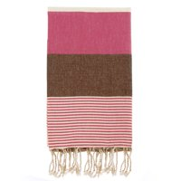 Swan Comfort 100% Organic Turkish Cotton Absorbent Beach & Bath Towel - Dark Pink - Brown