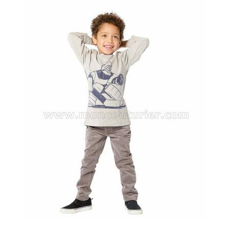 Deux par Deux Boys' Gray T-shirt He Shoots, He Scores!, Sizes 18M-6 - 4 - image 1 of 2