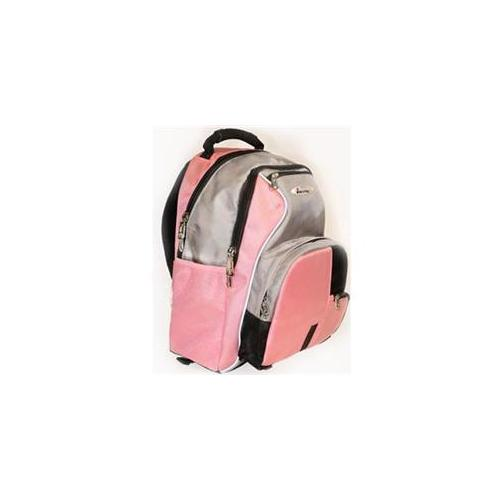 iSafe Built-in Alarm School Backpack in Pink & Grey