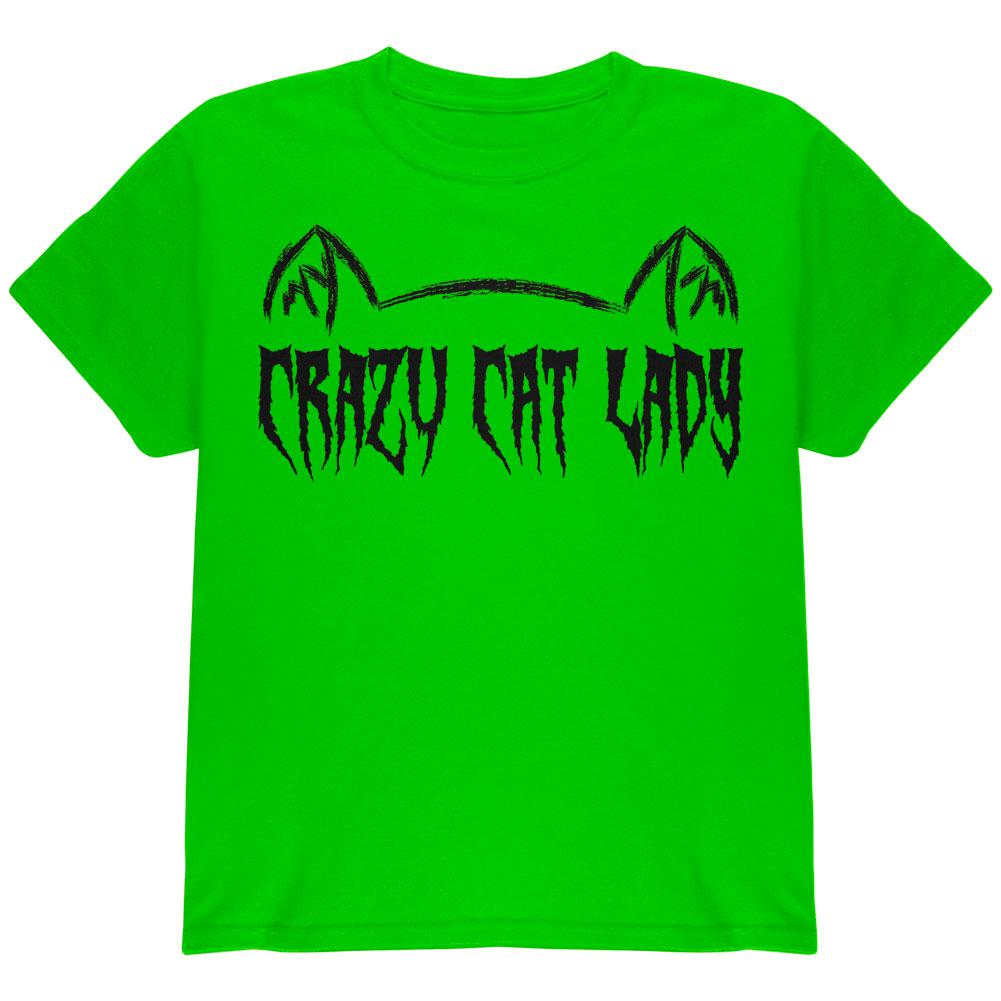 Halloween Crazy Cat Lady Youth T Shirt
