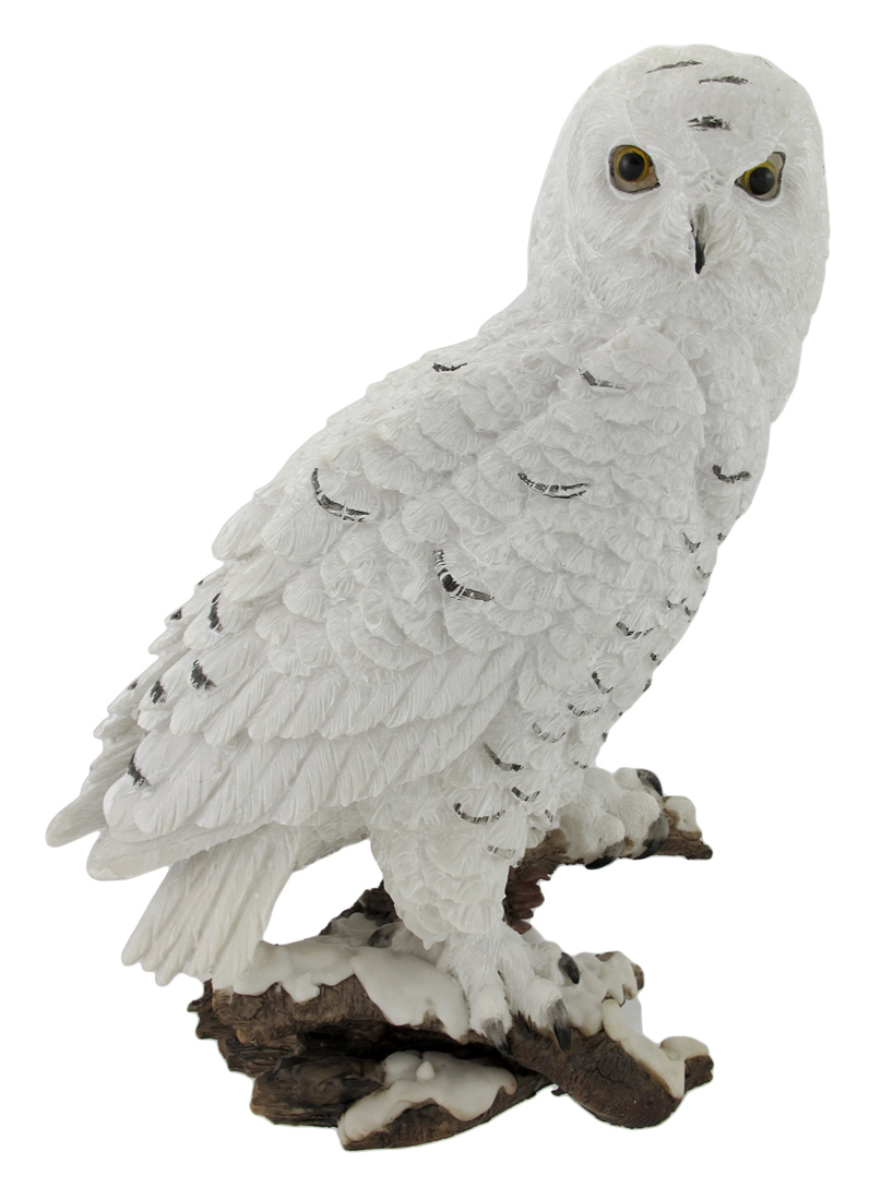 Beautiful Snowy Owl on a Branch Statue by Everspring Import Co.