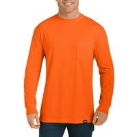 Genuine Dickies Men's Long Sleeve Enhanced Visibility T-Shirt, 2-Pack