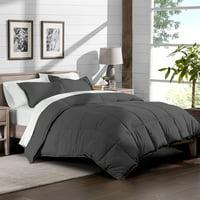 Ultra-Soft Premium 1800 Series Goose Down Alternative Comforter Set - Hypoallergenic - All Season - Plush Siliconized Fiberfill (Full/Queen - Gray)